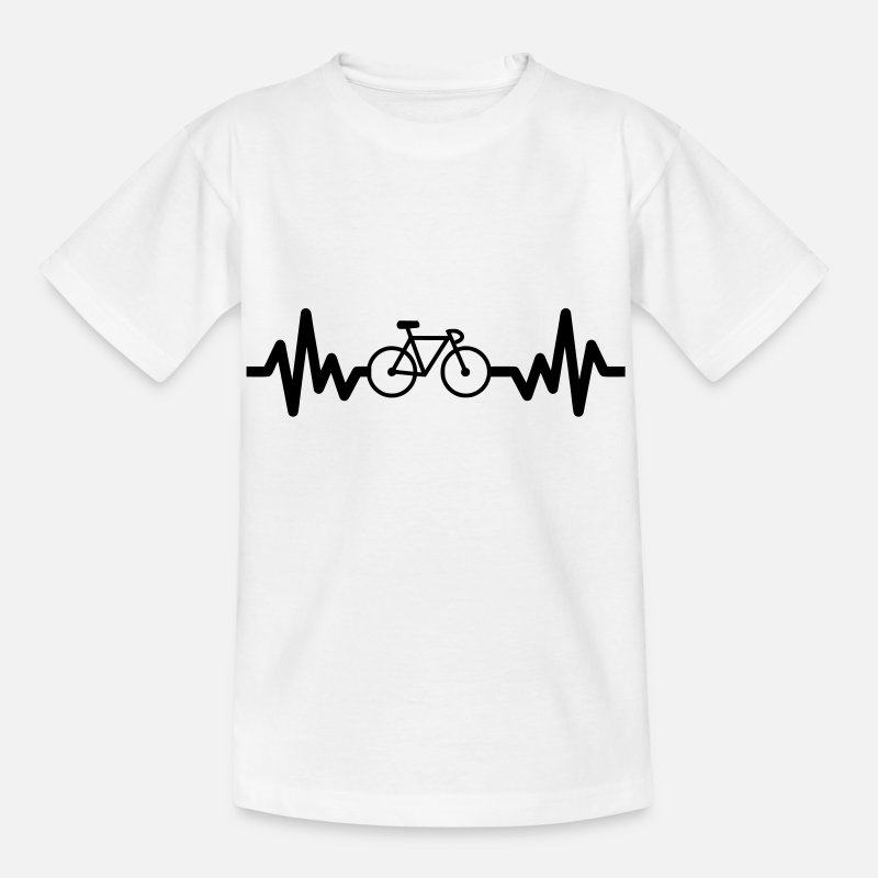 Cycling T-Shirts - Bike is life - cycling - Kids' T-Shirt white
