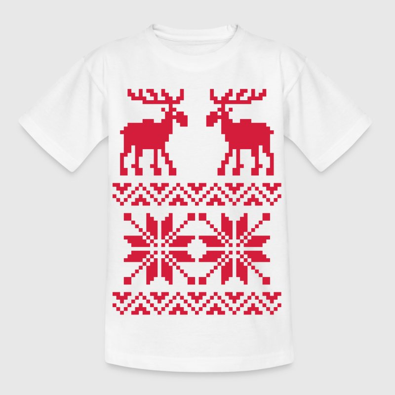 Moose Pattern Christmas Sweater - T-shirt barn