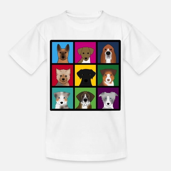 Bestsellers Q4 2018 T-Shirts - new 3 x 3 dogs - Kids' T-Shirt white