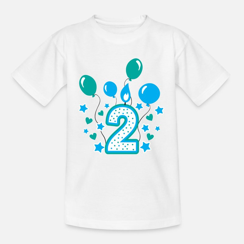 Boy T-Shirts - Second birthday boy, 2nd birthday gift - Kids' T-Shirt white