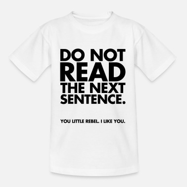 Cool Do Not Read - Kinderen T-shirt