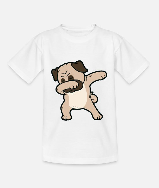 Love T-Shirts - Pug Dabbing Pug Dancing Dog Dancing Figure - Kids' T-Shirt white