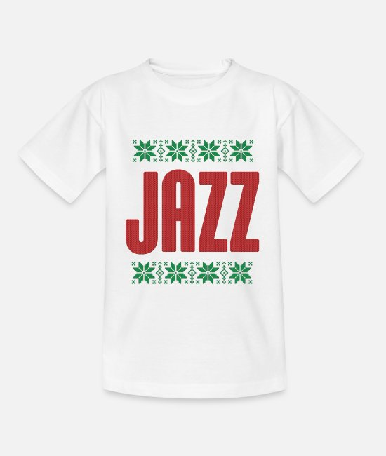 Ugly Christmas T-Shirts - Jazz Musik Ugly T-Shirt I Xmas Geschenk - Kinder T-Shirt Weiß