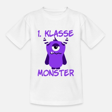 Klasse 1st class monster guys - Kinderen T-shirt