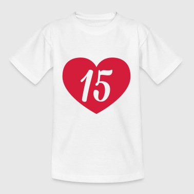 15th birthday heart Shirts - Kids' T-Shirt