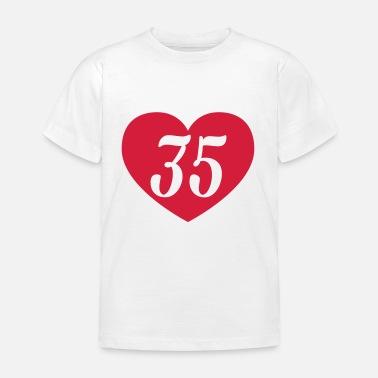 35e Verjaardag Hart Shirts Met Lange Mouwen Baby Longsleeve