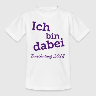 Je participe · inscription 2018 (violet) - T-shirt Enfant
