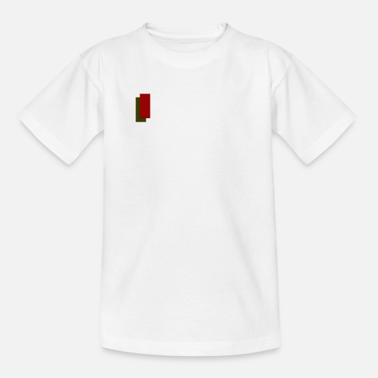 Red T-Shirts - logo - Kids' T-Shirt white