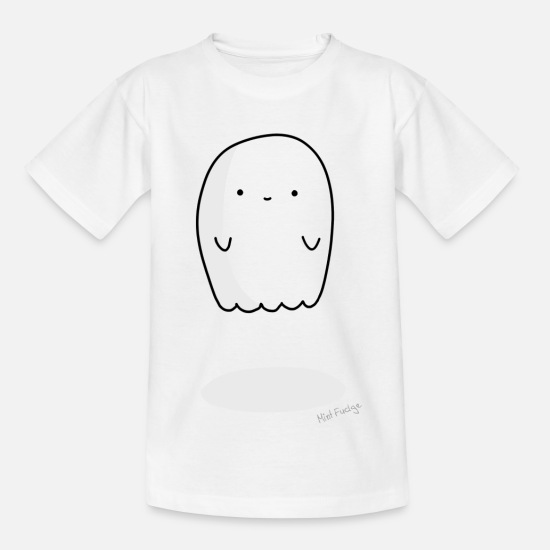 Niedlich T-Shirts - A Scary One - Kinder T-Shirt Weiß