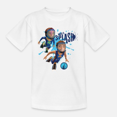 Deep The Deep Make A Splash Fontaine And Antaeus - Kinderen T-shirt