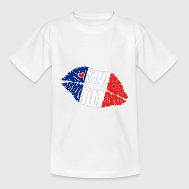 Flag Kiss Lips France - Kids' T-Shirt