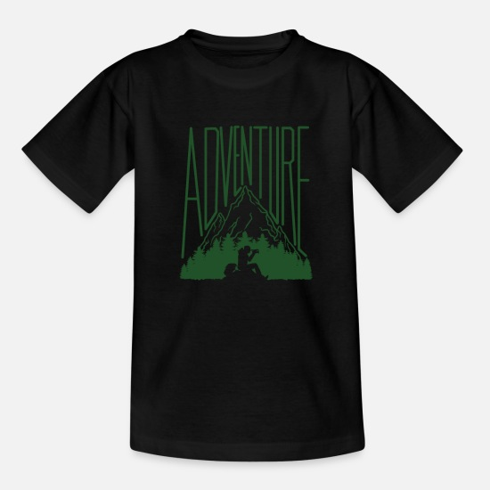 Rock T-Shirts - Adventure Rock Rest Mountain Hiking Survival Cool - Kids' T-Shirt black