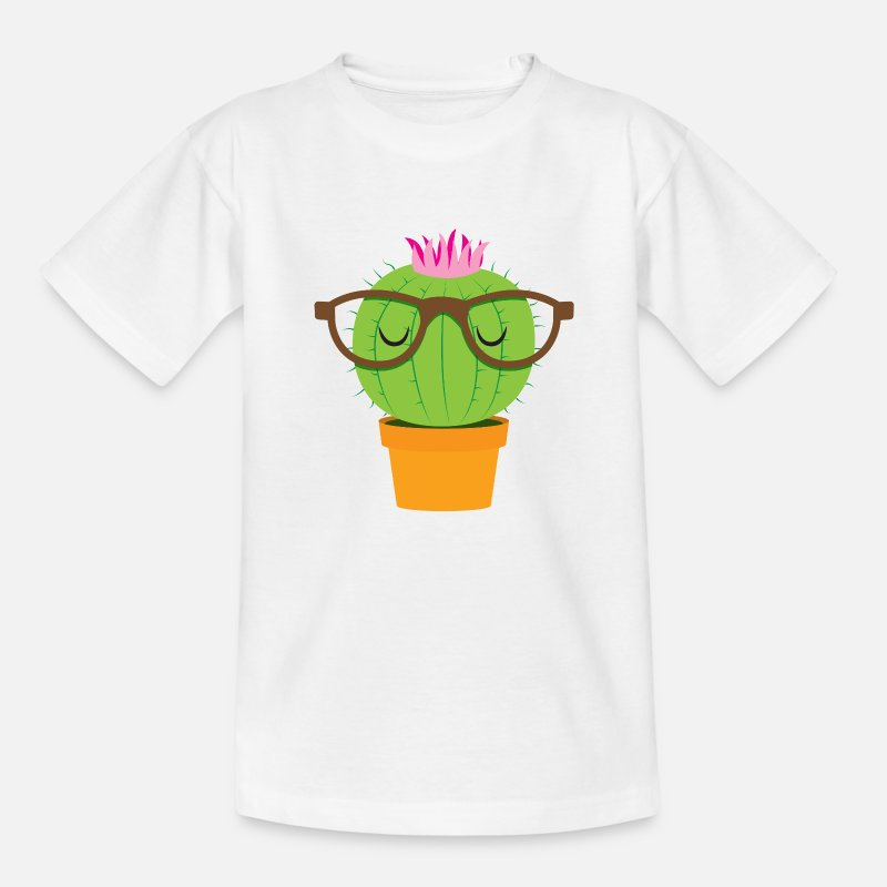 Cause T-Shirts - Cute nerdy little cactus - Kids' T-Shirt white