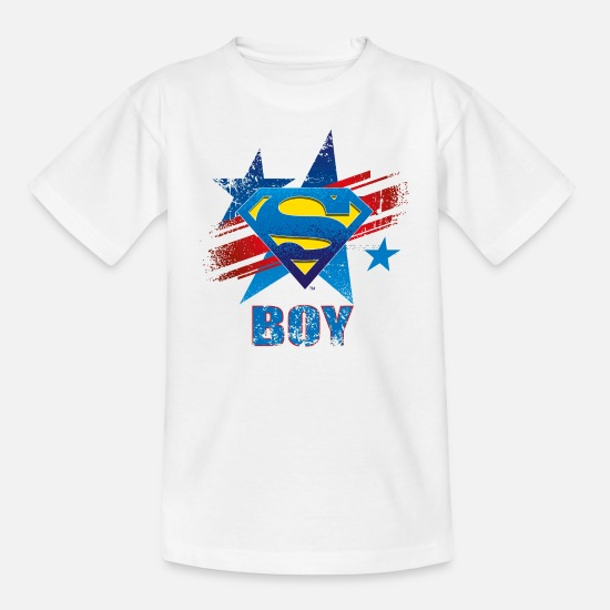 Clark Kent T-shirts - Superman S-Shield Boy Mannen T-Shirt - Kinderen T-shirt wit