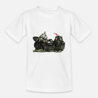 three young crows - Kids' T-Shirt