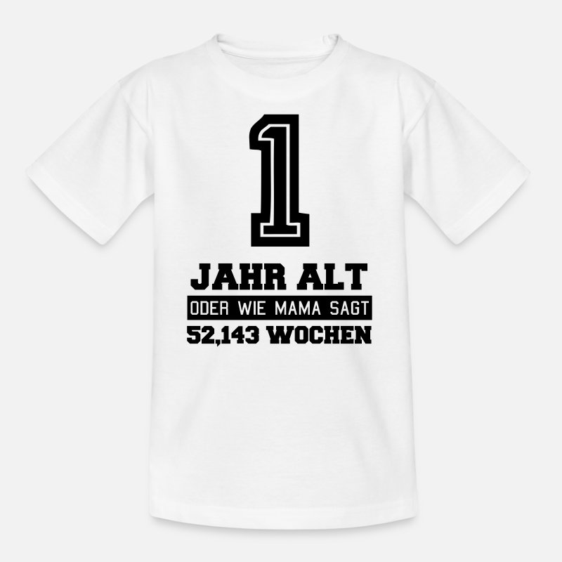 Verjaardag Van 1st Verjaardag 1 Jaar Oud Kinderen T Shirt Spreadshirt