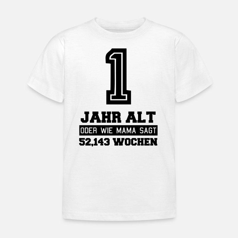 Populair Verjaardag van 1st Verjaardag 1 jaar oud Kinderen T-shirt &DA33