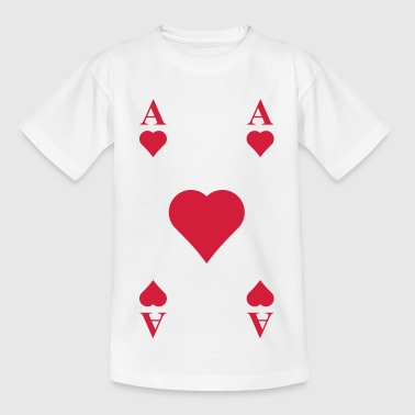 ace of hearts, playing card  - Kids' T-Shirt