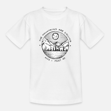Mountains the Mountains are Calling | Wandern Design - Kinder T-Shirt