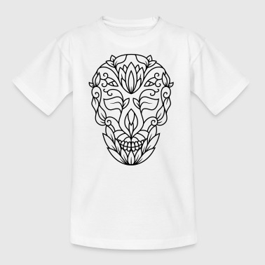 Decorated dead head of flowers - Kids' T-Shirt