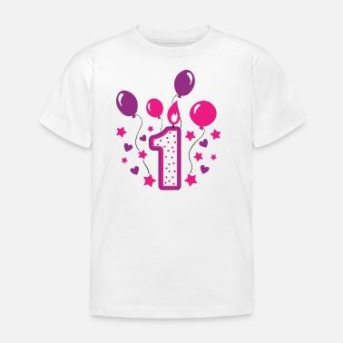 1a350183f El primer cumpleaños primero cumpleaños regalo que uno año - Camiseta niño