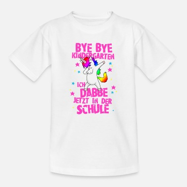Rainbow I Dabbe school Unicorn training school - Kids' T-Shirt