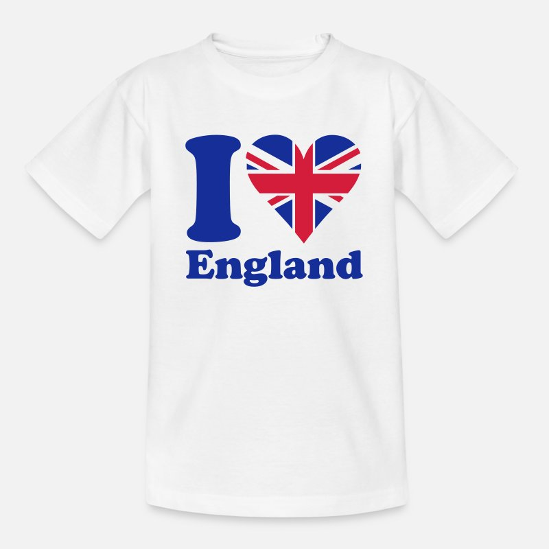 Love T-Shirts - I love England - Kids' T-Shirt white