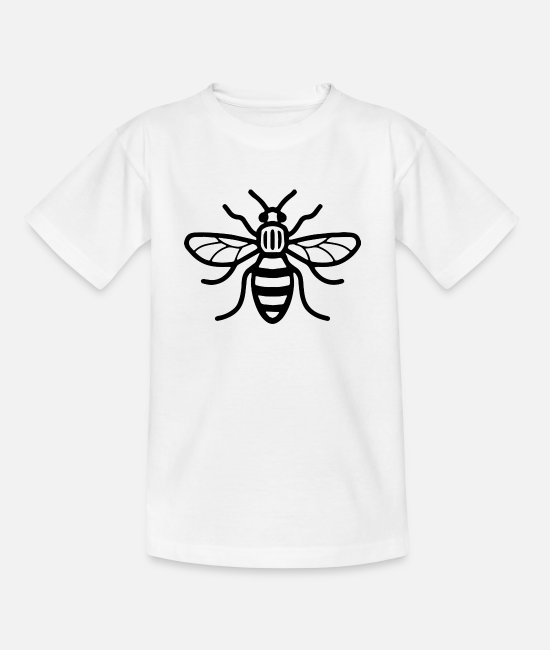 Manchester T-Shirts - Manchester Bee - Kids' T-Shirt white