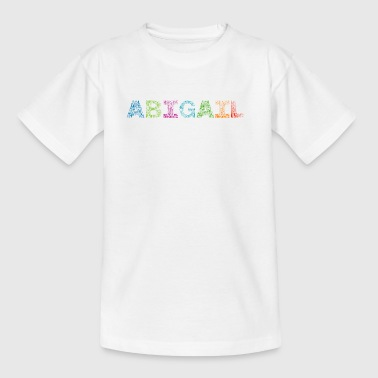 Abigail Letter Name - T-skjorte for barn