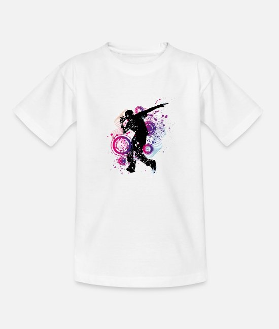 Gift T-shirts - Breakdance Top Rocks - Kinderen T-shirt wit