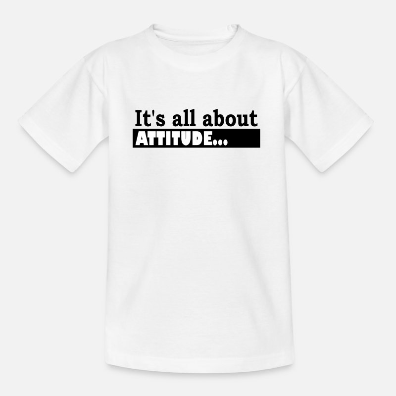 Sportscar T-Shirts - Its all about Attitude - Kids' T-Shirt white