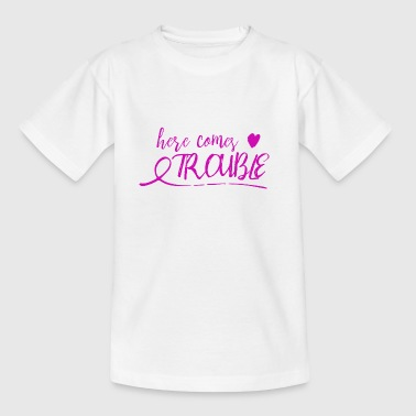 here comes trouble - pink - Kids' T-Shirt