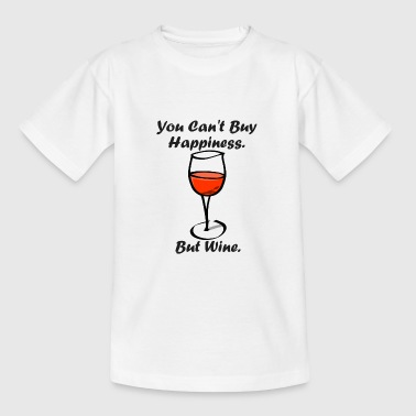 You can not buy happiness but wine - Kids' T-Shirt