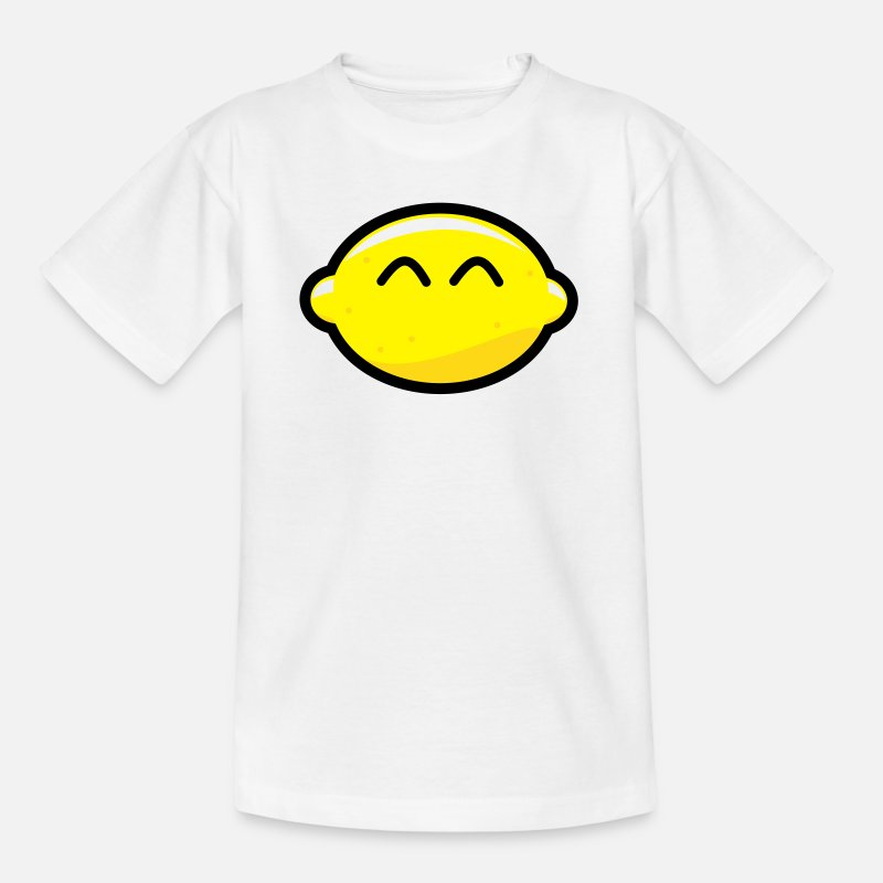 Animal T-Shirts - Anime Cartoon Lemon Face - Kids' T-Shirt white