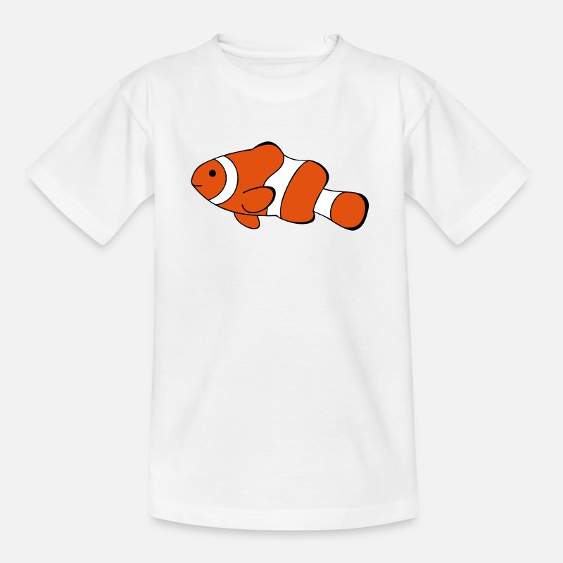 Clown Fish T-Shirts - Clown Fish Drawing - Kids' T-Shirt white