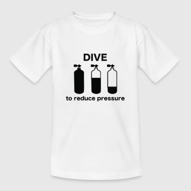 DIVE for at reducere tryk / dykkere, dykning, scuba - Børne-T-shirt