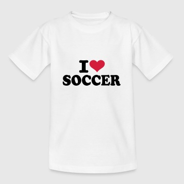 I love Soccer - Kinder T-Shirt