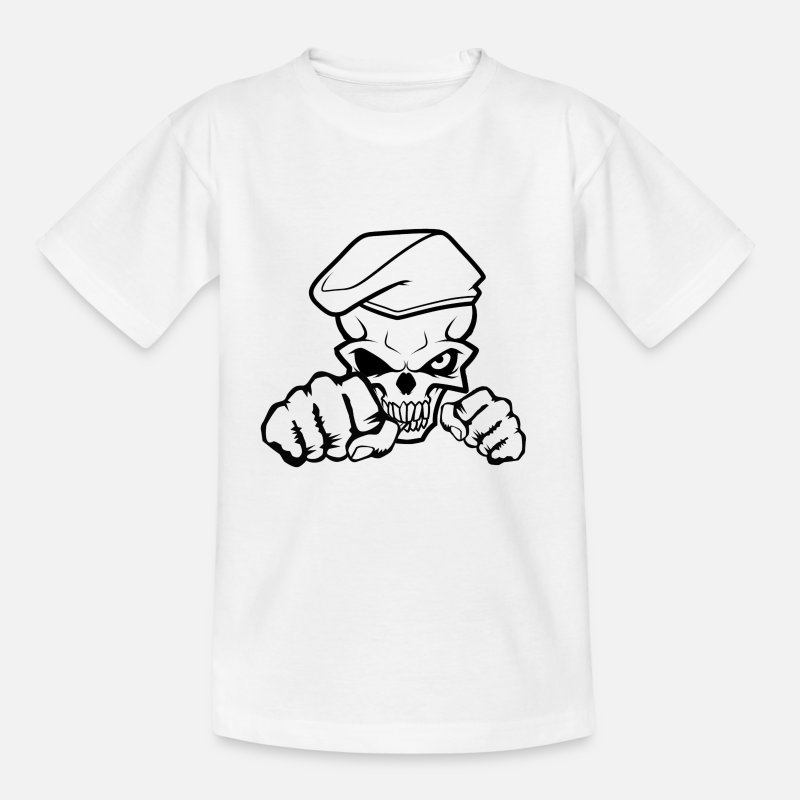 Spreadmusic2015 T-Shirts - Skull Soldier - Kids' T-Shirt white