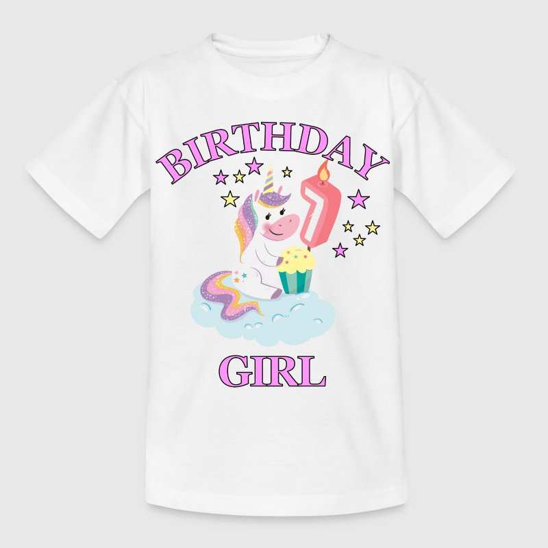 7th Birthday Girl - Kinderen T-shirt