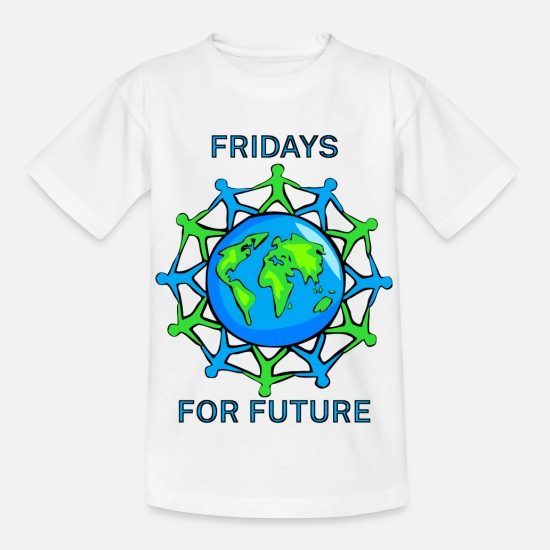 Fridays For Future T-Shirts - Fridays for future - Kinder T-Shirt Weiß