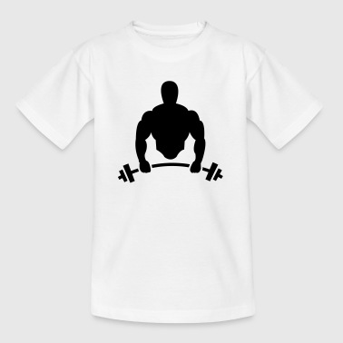 Body builder with barbell - Kids' T-Shirt
