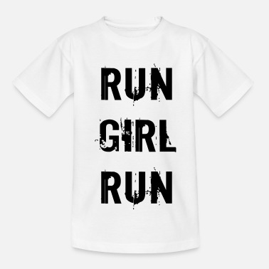 Run Girl Run - Kinder T-Shirt