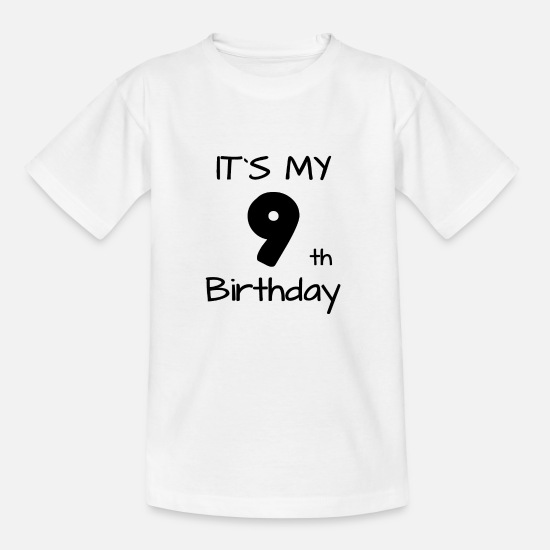 Kinder T-Shirts - It s my 9th Birthday - Es ist mein neunter Geb. - Kinder T-Shirt Weiß