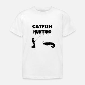 wels angeln catfish hunting schwarz l tzchen spreadshirt Jeremy Wade Wels Catfish kinder t shirt