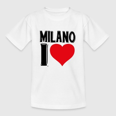 Milan I love you T-shirt Milano cadeau - Kinderen T-shirt