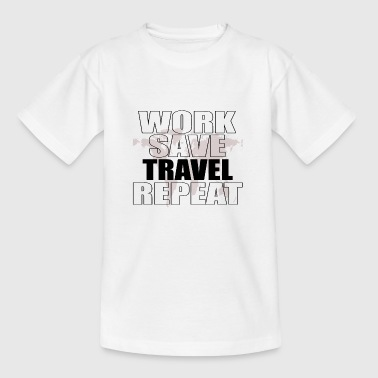 Traveler Vacation Vacation Travel Travel Tourist Trip - Kids' T-Shirt