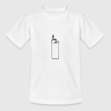 Lighter light flame cigarette - Kids' T-Shirt