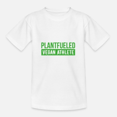 Healthy Eating Plantfueled Vegan Athlete Sport Gift - Kids' T-Shirt