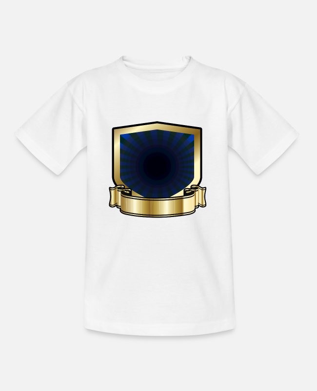 Gold T-Shirts - Blue and Gold Shield - Kids' T-Shirt white