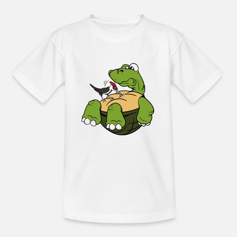 Bestsellers Q4 2018 T-Shirts - Tortoise woodpecker reptiles birds bird - Kids' T-Shirt white